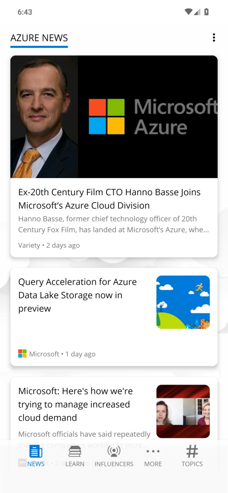 Azure Every Day app