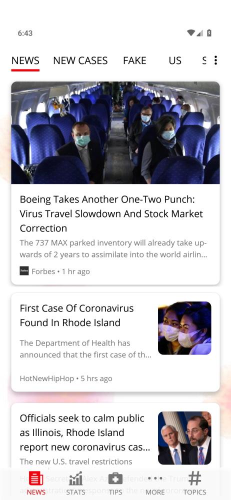Coronavirus Smartable app