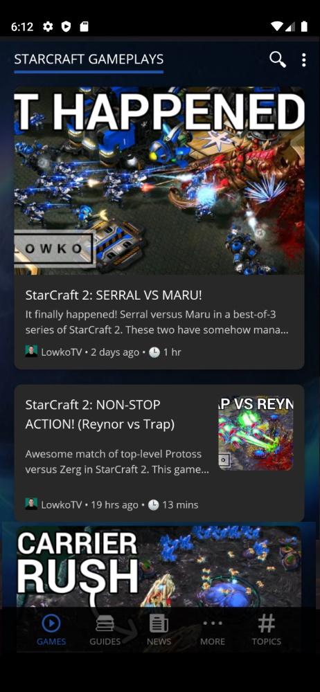 StarCraft 2 Smartable app